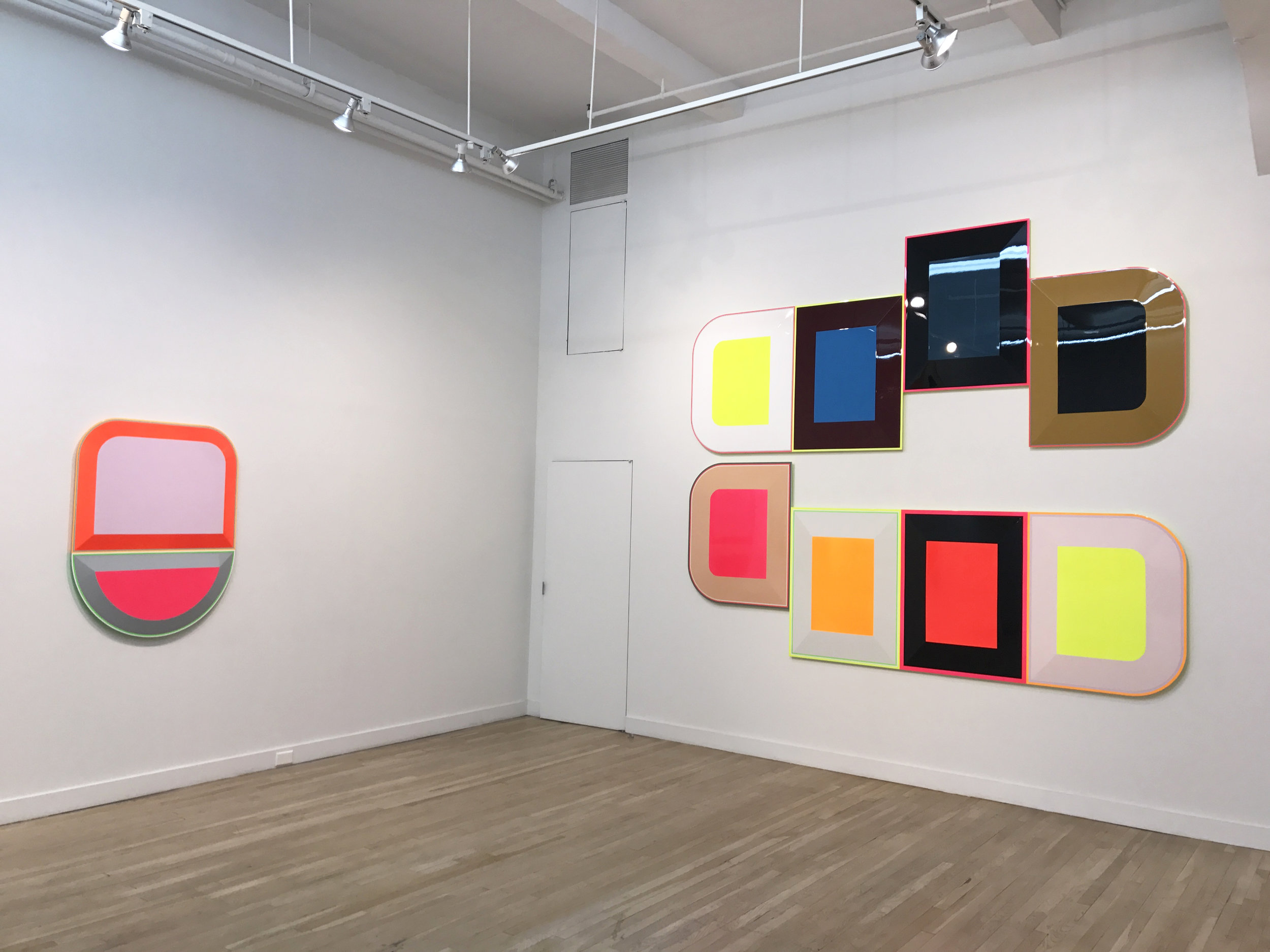Installation view,  Beverly Fishman: DOSE , CUE Art Foundation, New York. Photo: Matt Grubb