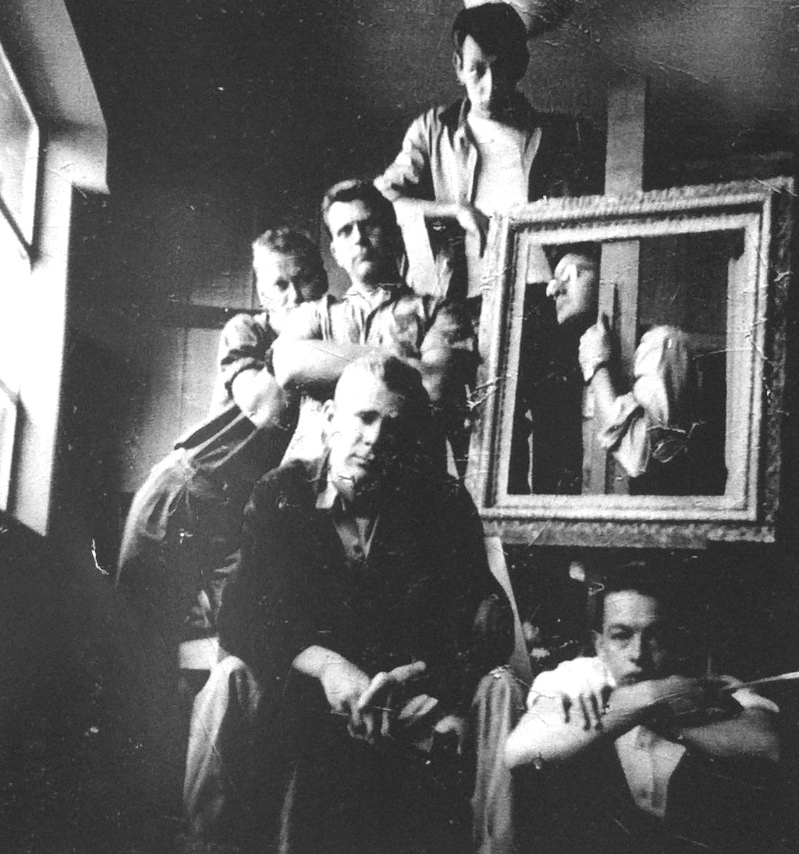 1949 Claremont Graduate School: Top-Jack Zajac, Center front-Tony DeLap, Paul Darrow