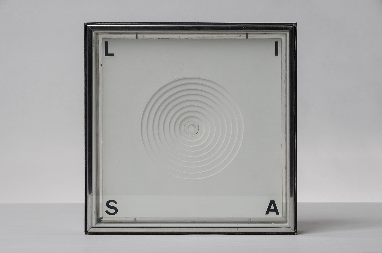Mona Lisa,  1962, wood, glass, Plexiglas, acrylic, chipboard, 9-1/2 x 9-1/2 x 2 inches