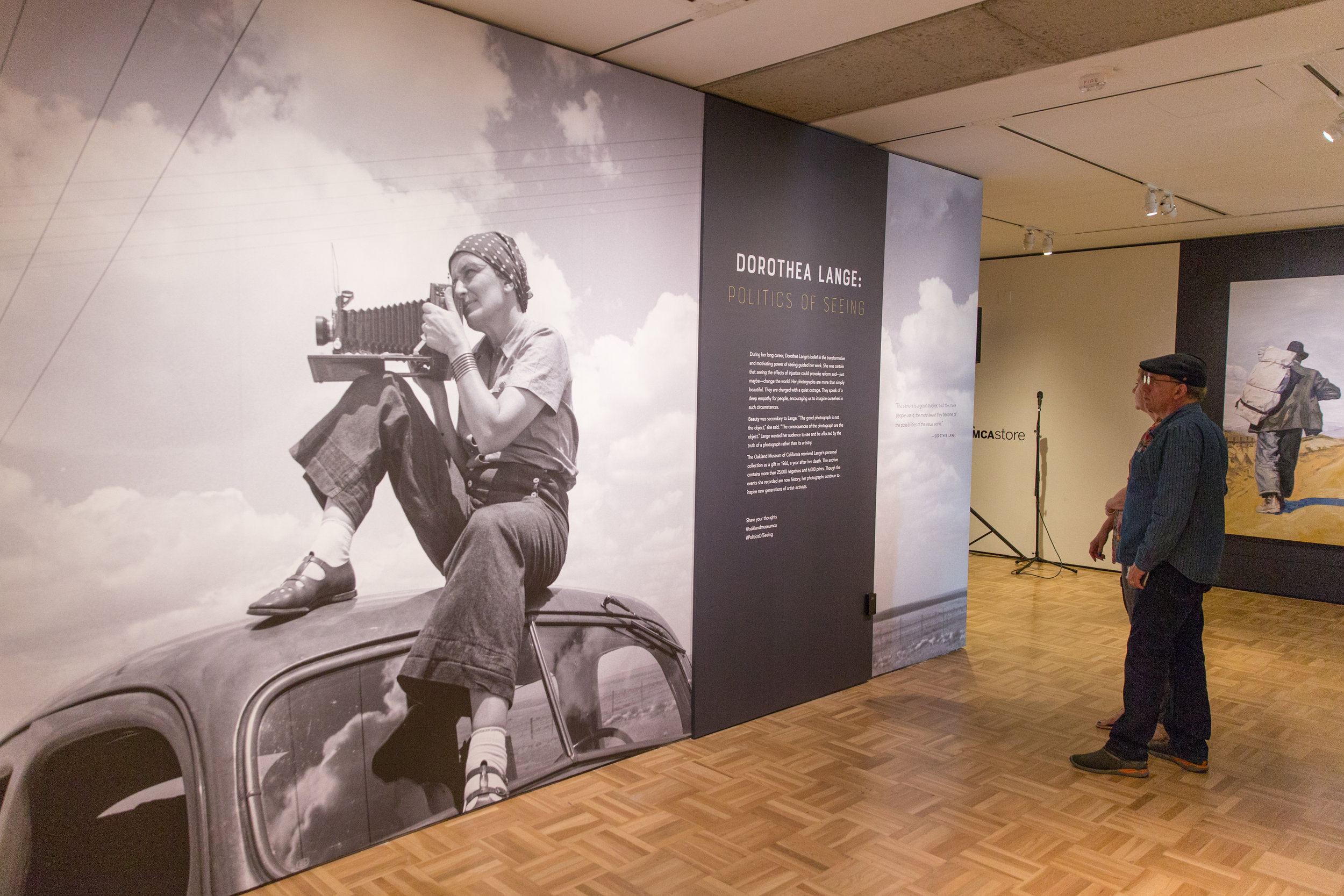 Installation view of  Dorothea Lange: Politics of Seeing  , 2017.   Courtesy of Oakland Museum of California. Photo: Odell Hussey Photography.