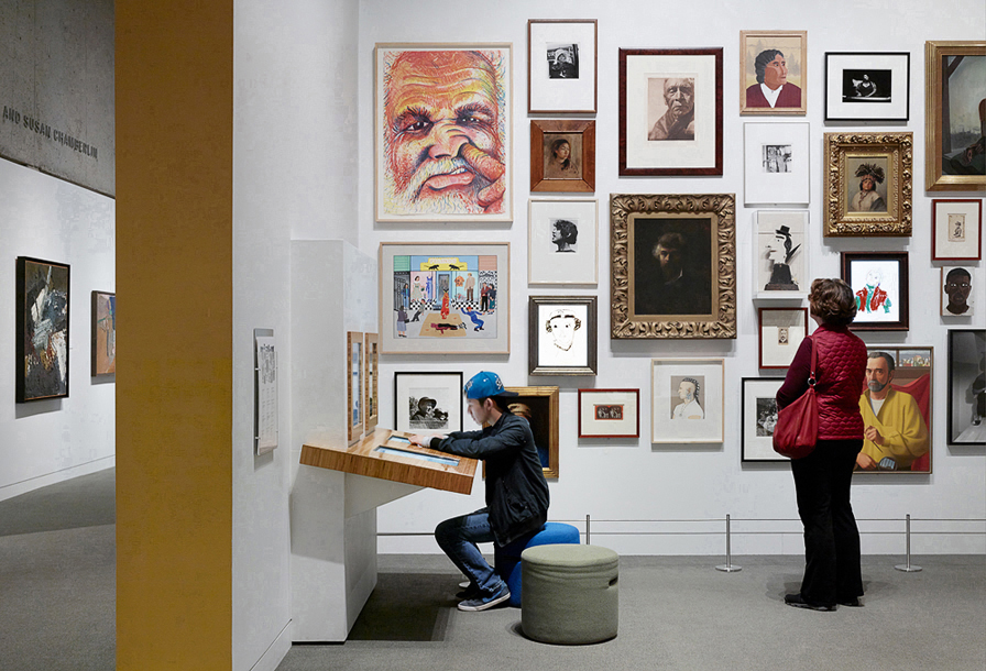 Installation view:  Gallery of California Art at OMCA . Courtesy of Oakland Museum of California. Photo:  Matthew Millman .