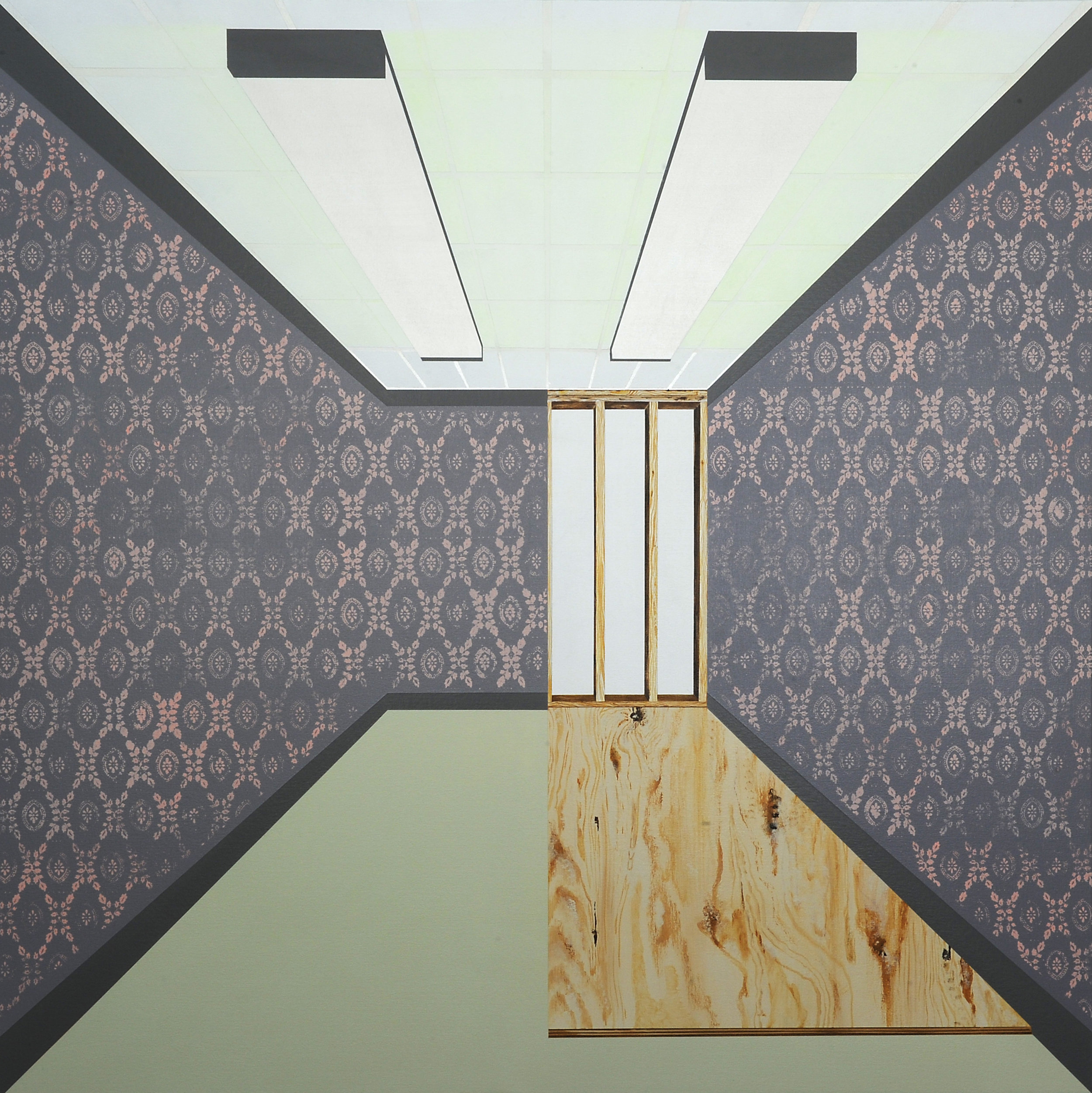 """The Room No. 1 , 2014. Acrylic on canvas over panel, 48"""" x 48""""."""