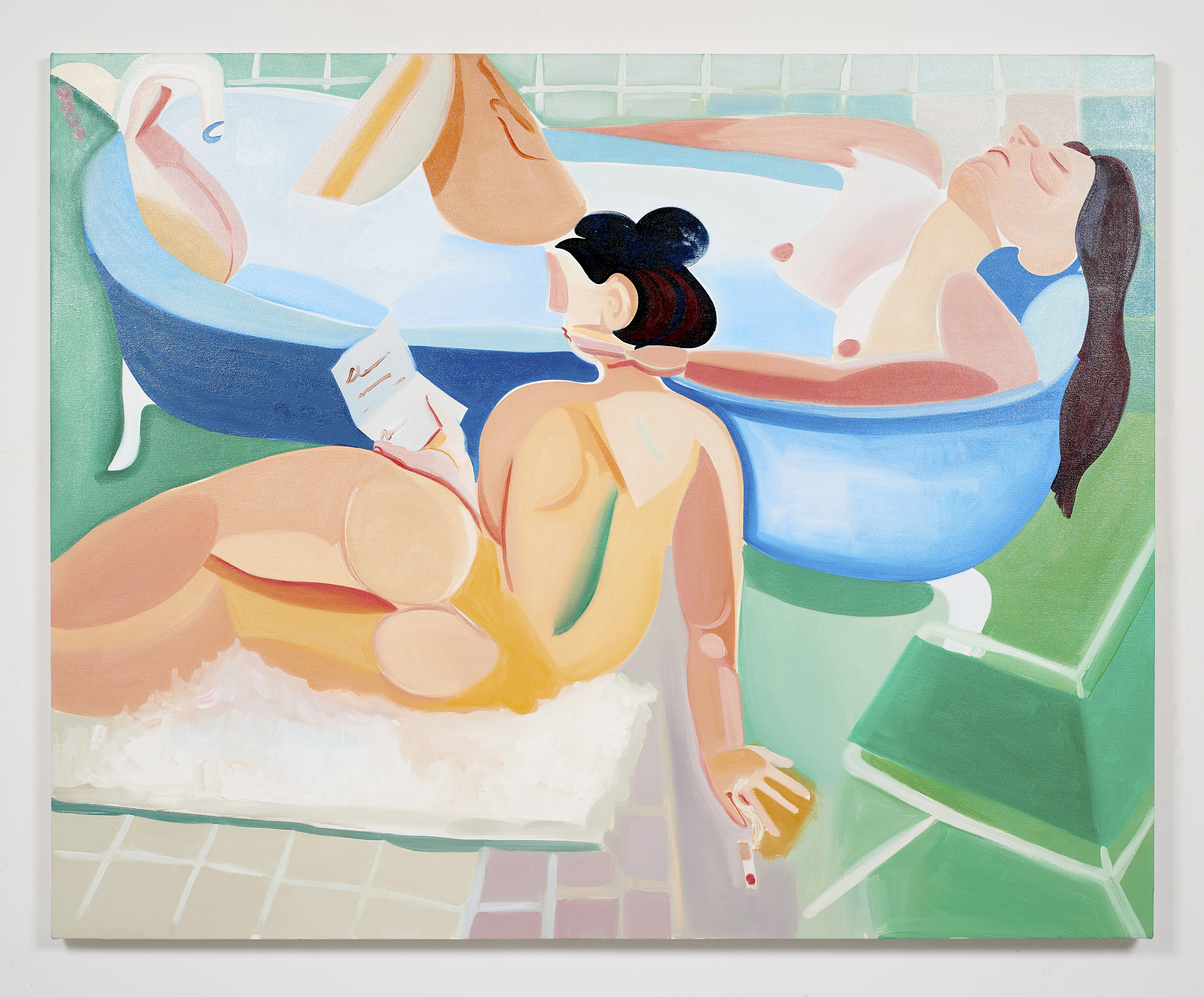 Rejection Season, 2017. Oil on canvas. 60 x 48 inches. Photo credit:  Erik Dalzen . Courtesy of  Jack Hanley Gallery.