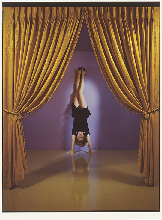 Jo Ann Callis  Performance , 1985 Signed in ink on verso Vintage Cibachrome Print 96.5 x 109.2 cm 38 x 43 in Photo: © Jo Ann Callis Courtesy of ROSEGALLERY