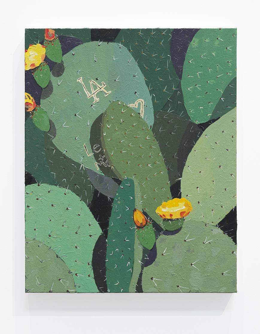 Hilary Pecis  LA Cactus , 2018 50.8 x 40.6 x 3.8 cm 20 x 16 x 1 1/2 in Photo: © Hilary Pecis Courtesy of Over the Influence