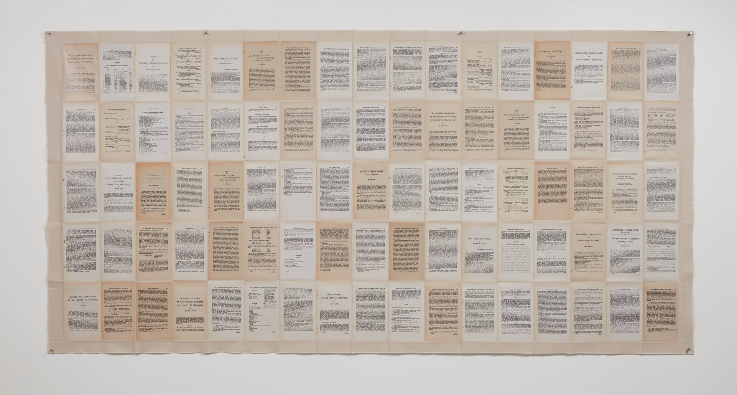 Dinah Diwan  Overwriting 3 , 2017 85 pages of paper and ink on canvas 119.4 x 241.3 cm 47 x 95 in Photo: © Dinah Diwan Courtesy of the Artist