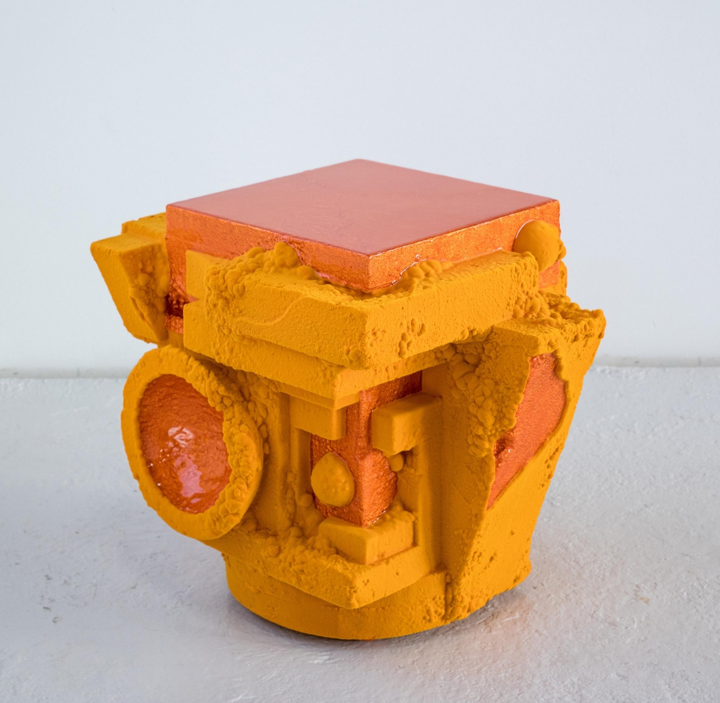 Decobot , 2018 47 x 41 x 8 inches Wood, polystyrene, resin, and nylon fiber