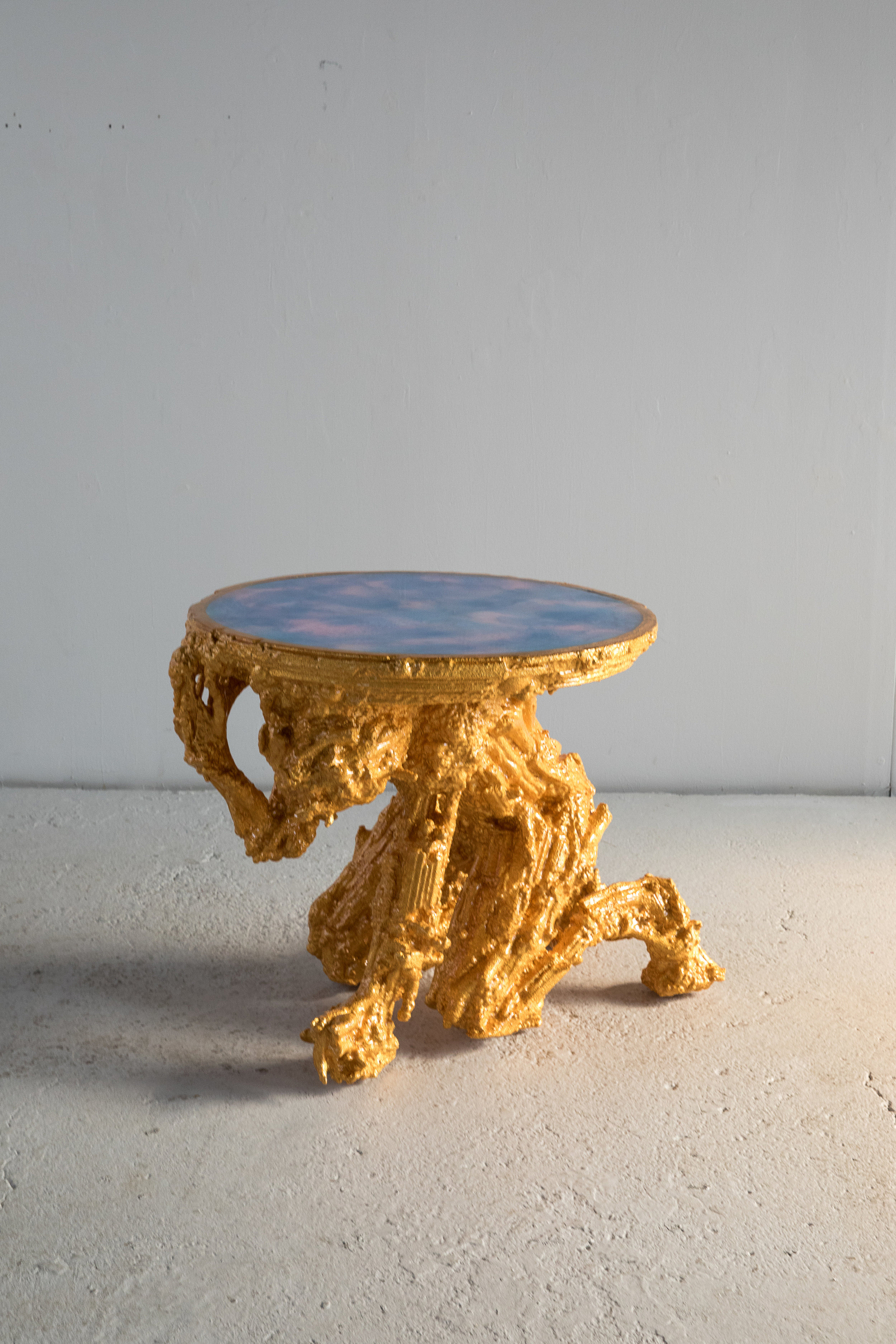 Gold 900 , 2018 35 x 32 x 31 inches Resin, steel, aluminum, polystyrene, and wood