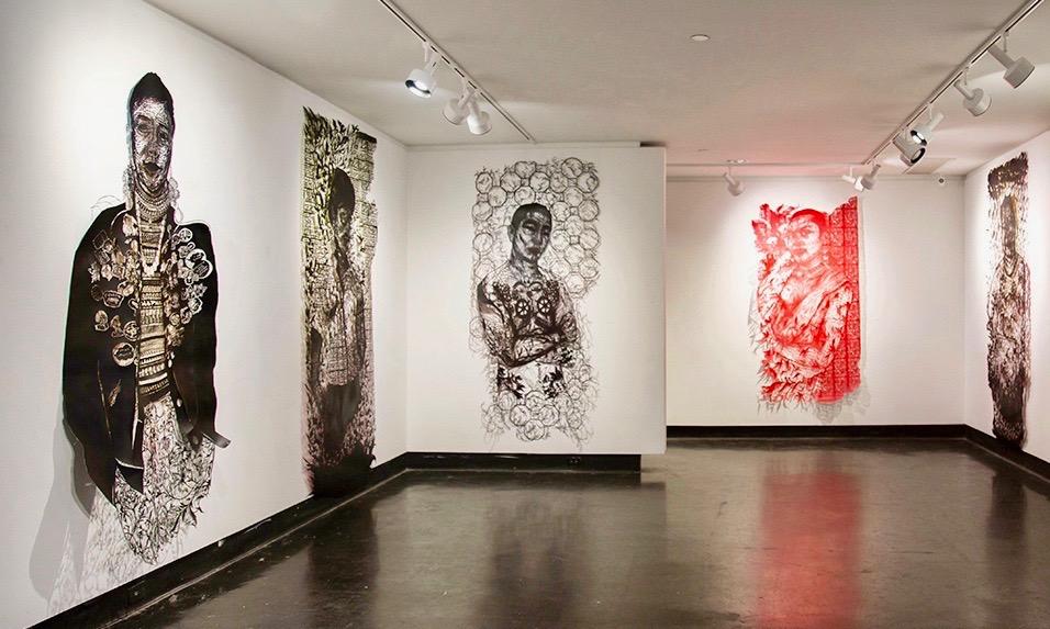 Vyêu em dài lâu (me love you long time) exhibition (installation view), 2018, Lawndale Art Center