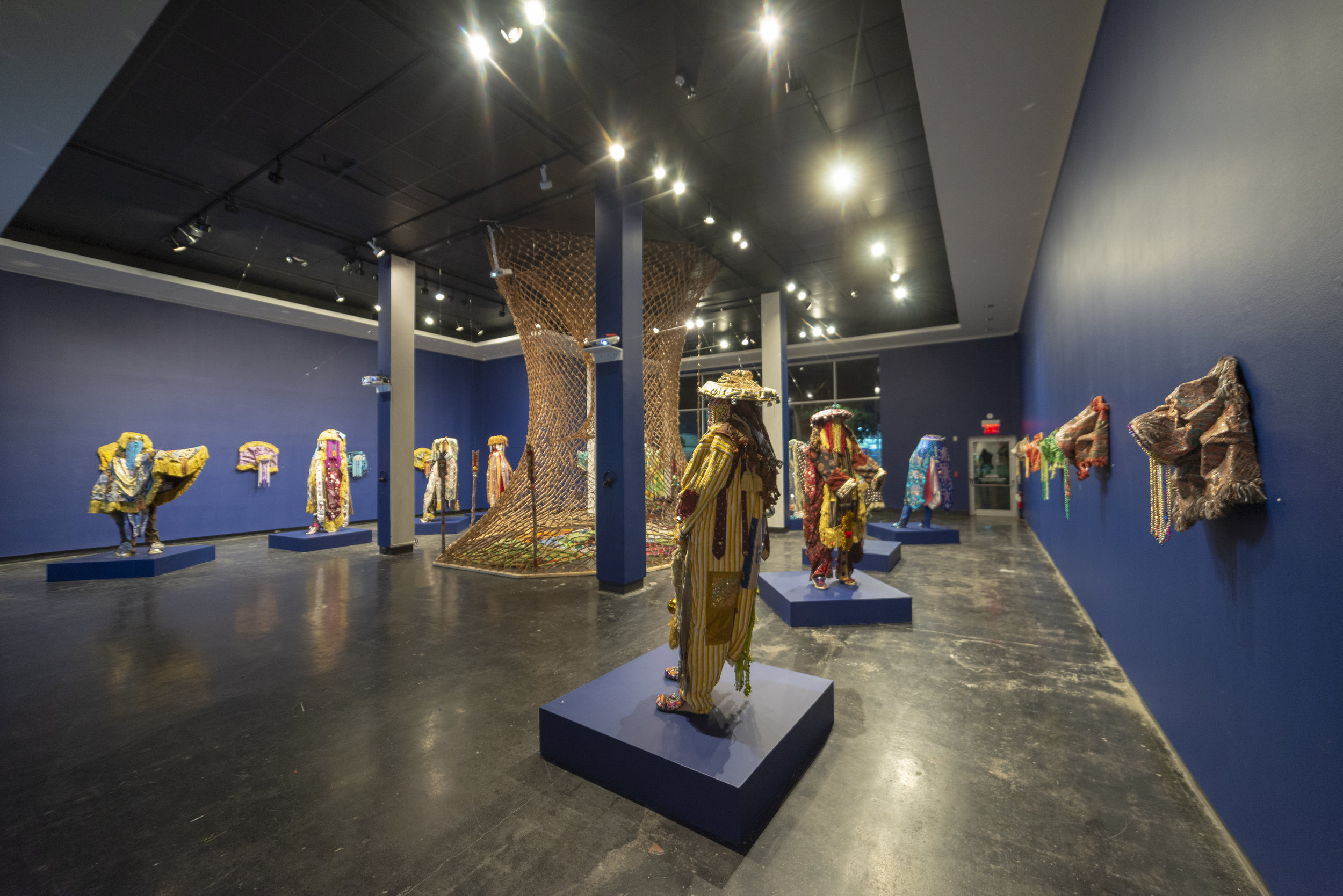 Ara Oru Kinkin (Masquerades Mythology) , Installation View, Lawndale Art Center.
