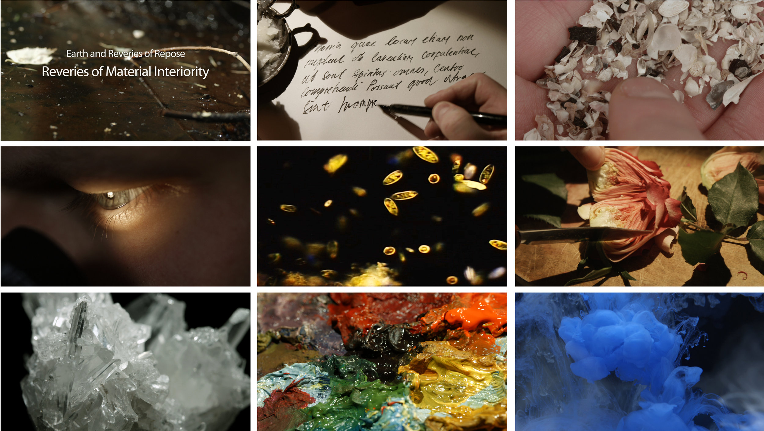 """Still images from """"Earth and Reveries of Repose—Reveries of Material Interiority"""", 2015, HD video, 23:52 min."""