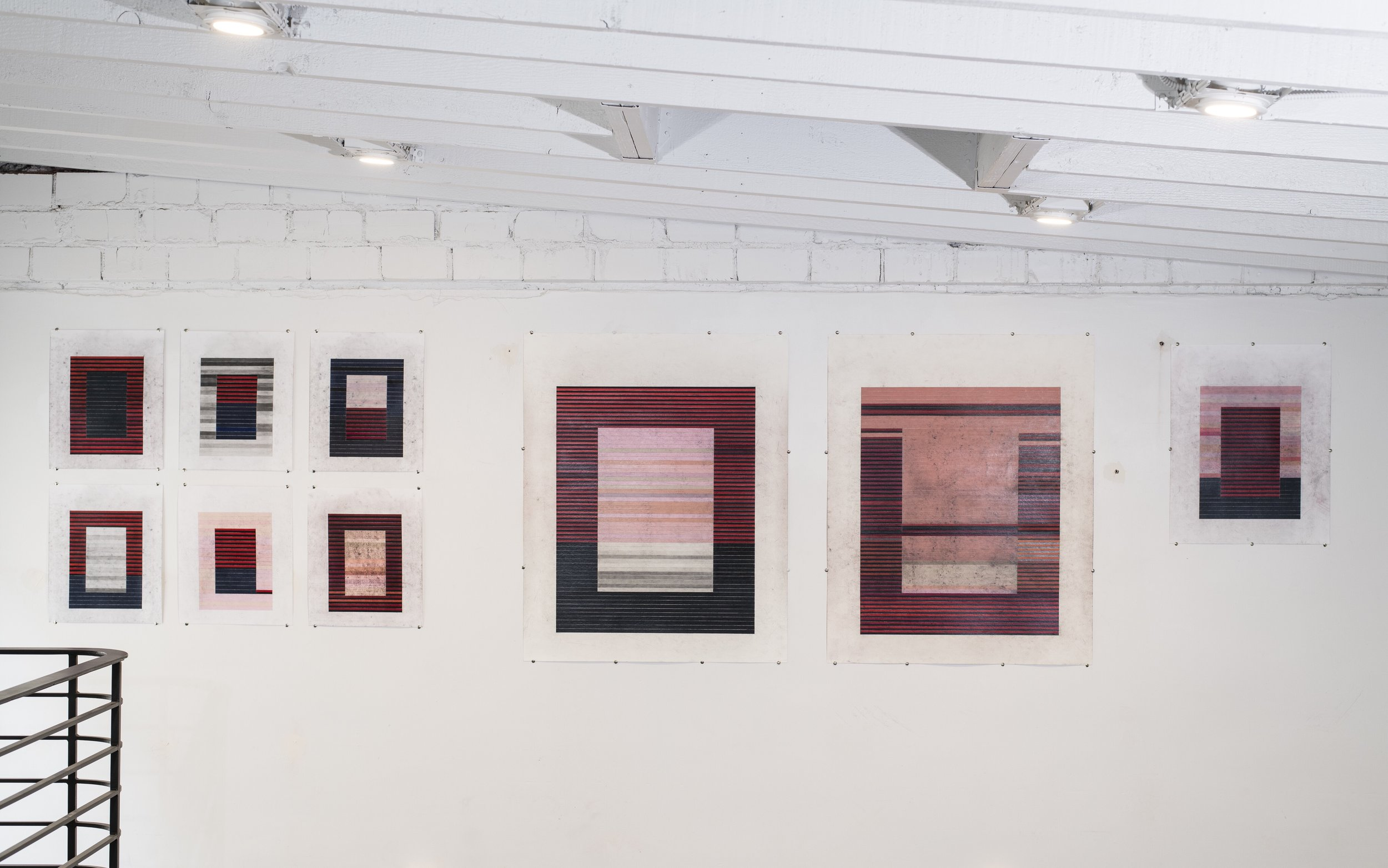 'Drawings of a Painting', installation view, 2019. Courtesy of there-there gallery.
