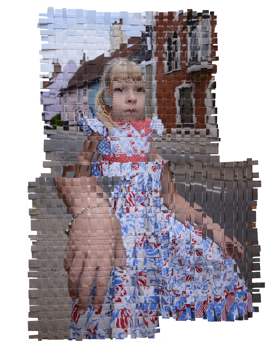 '4th of July in Bungay', 2016, Woven digital inkjet print, 8 1/2 x 11 in.