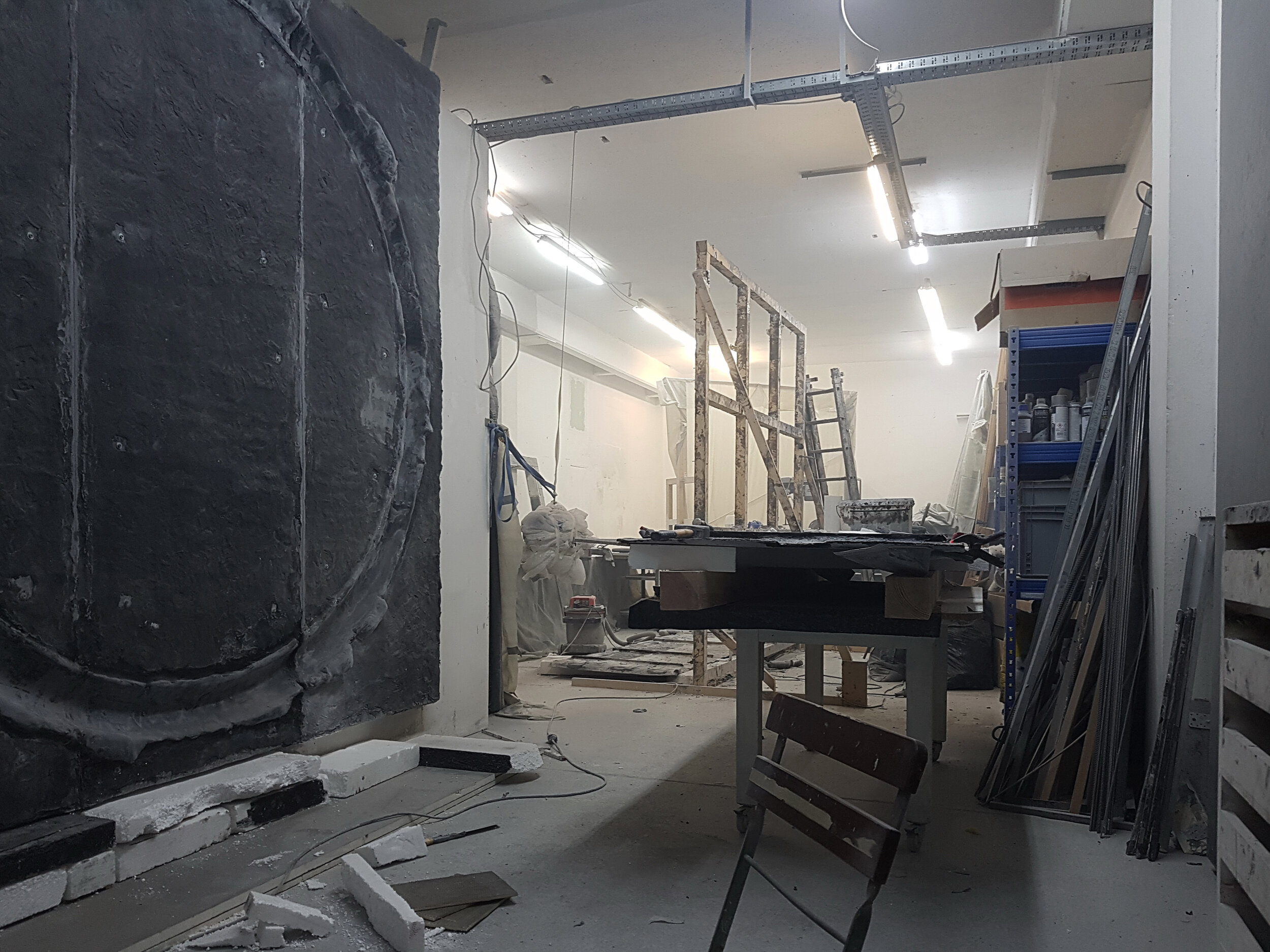 Studio view, Erik Andersen, Berlin 2019