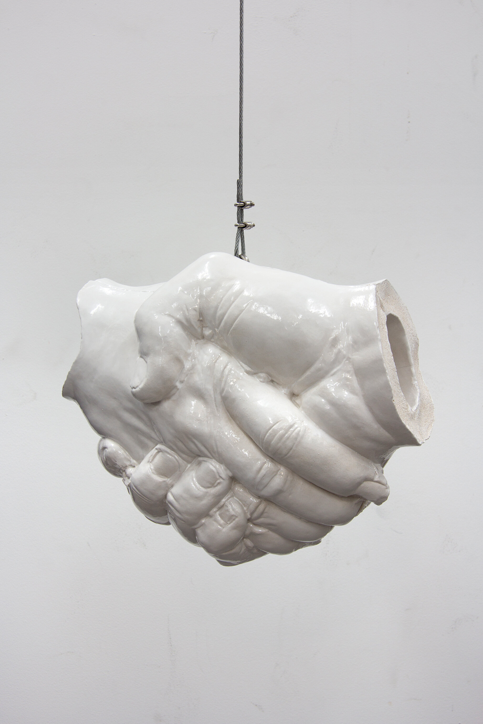 Handschlag , glazed ceramic, 18.89 x 15.75 x 11 inches, 2010