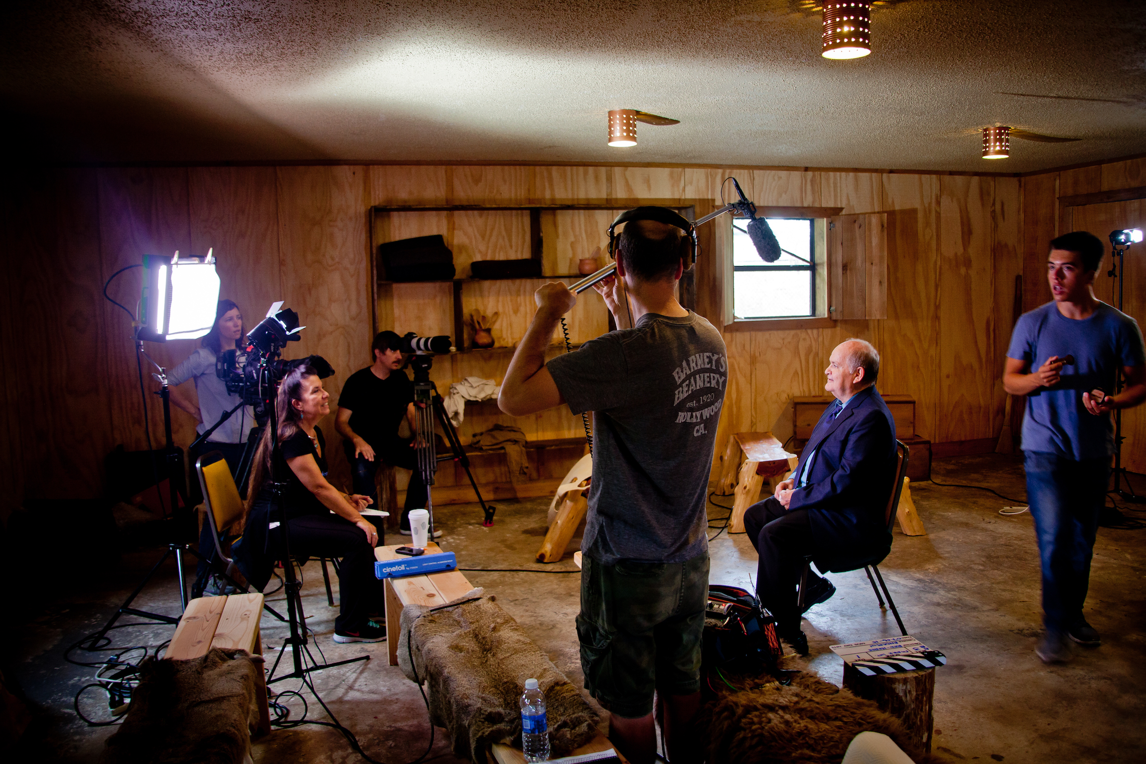 On location at the Cherokee Heritage Center in Oklahoma, the Mankiller Documentary crew interviews Mark Downing a former staff member of Wilma Mankiller's.