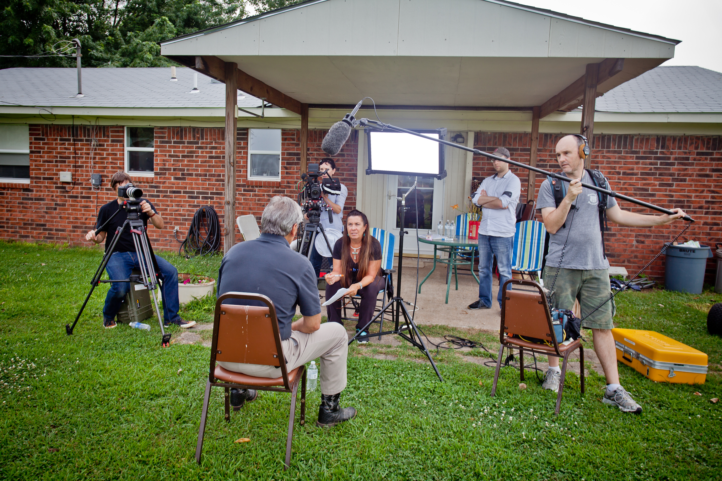On location in Oklahoma, the Mankiller Documentary crew  interviews Chad Smith, former Principal Chief of the Cherokee Nation.