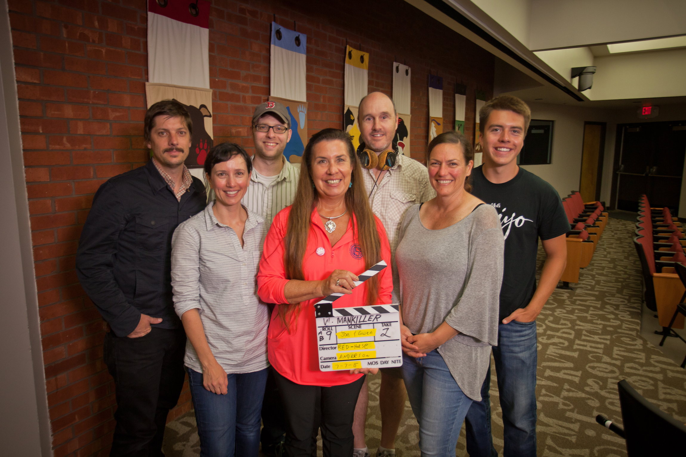 The Mankiller Crew wraps shooting in Oklahoma at the Cherokee Nation Tribal Headquarters in Tahlequah