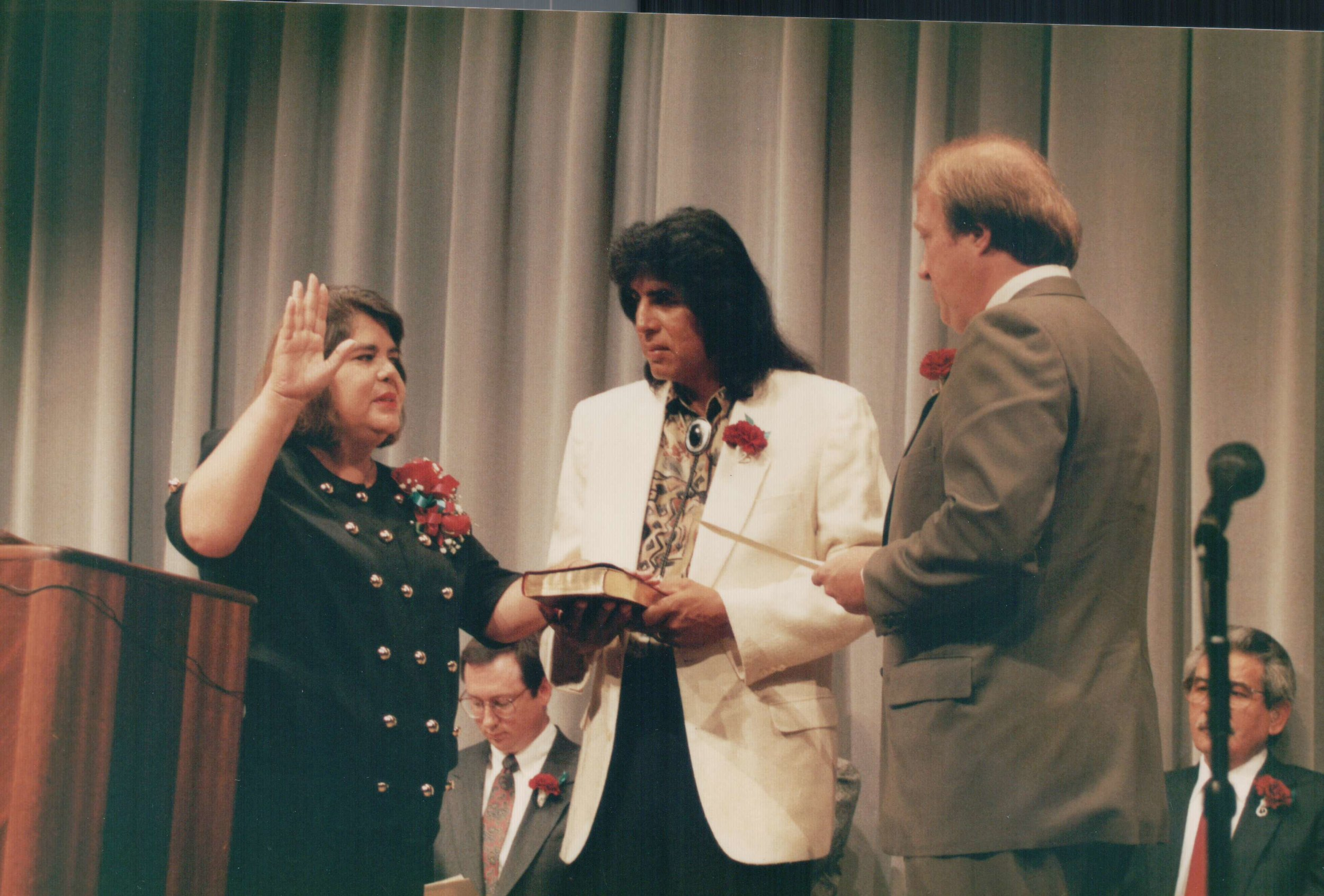 Wilma Mankiller is sworn into office as Principal Chief