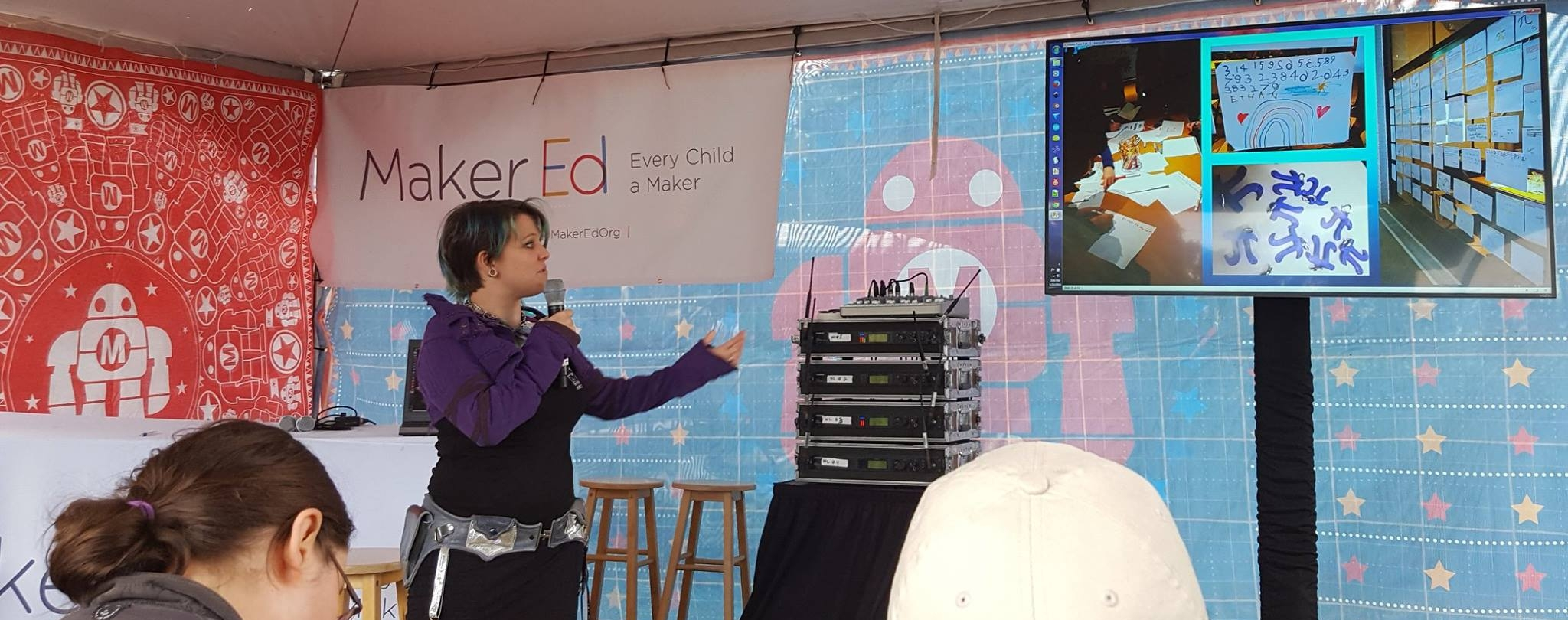 This photo was taken at the  Bay Area Maker Faire  in 2016 when I was invited to give a talk on Maker education in a science museum context.