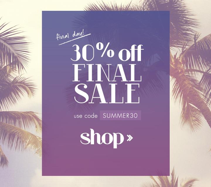 Final Sale on Sale Newsletter for Vickerey - Oliwild Design Co.