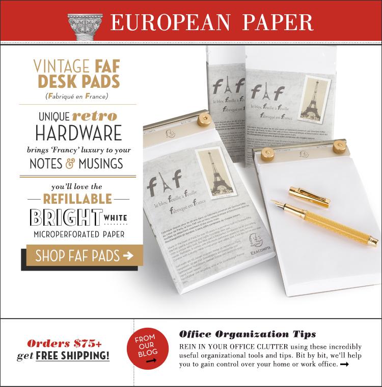European Paper FAF Pads Newsletter Design - Oliwild