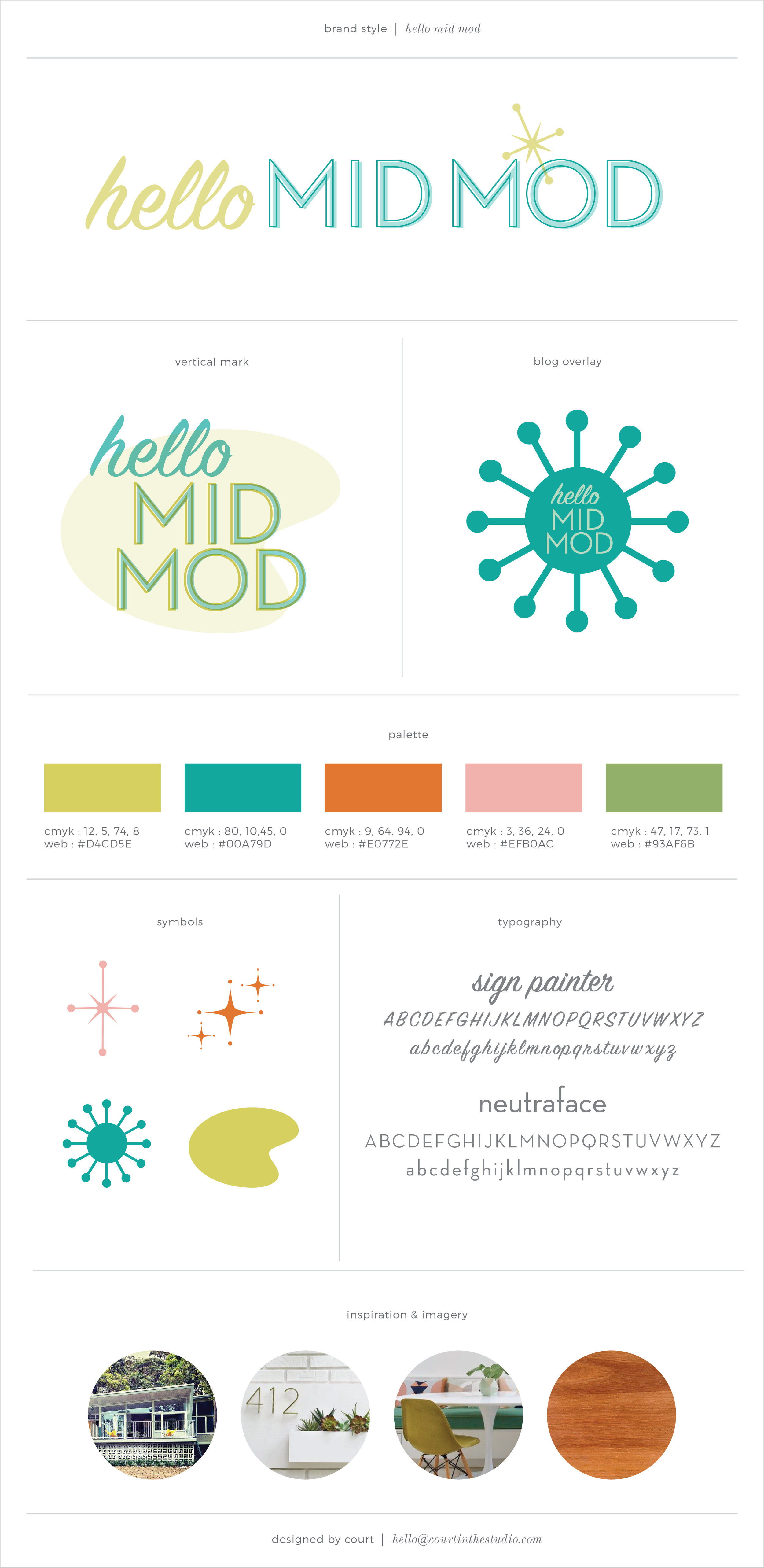 Hello Mid Mod Branding Board - Courtney Oliver
