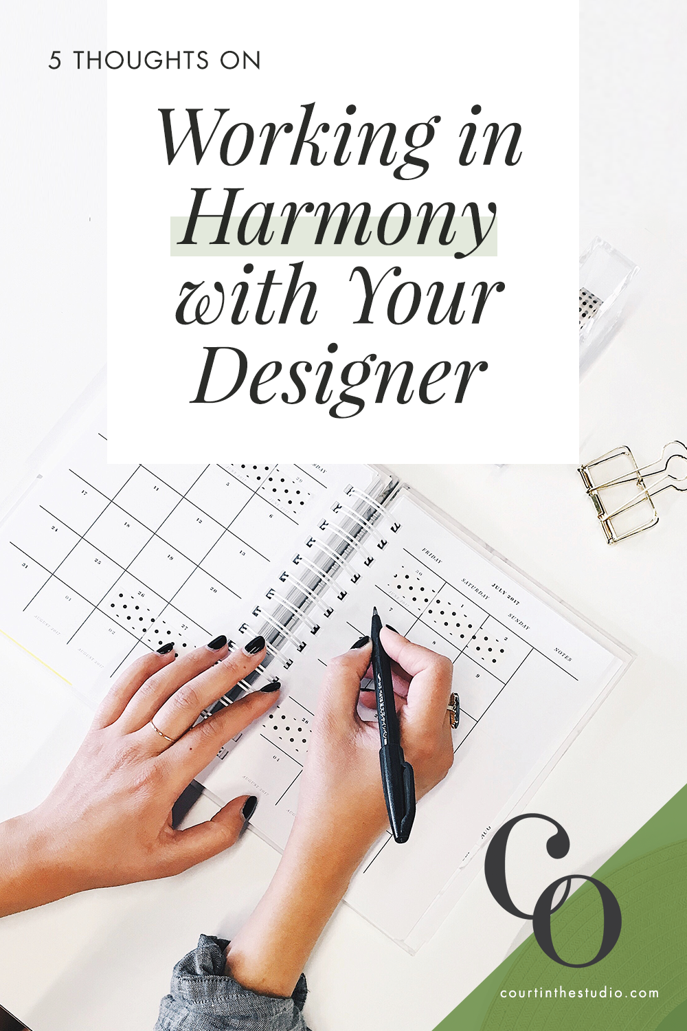 5 Tips on Working in Harmony with Your Designer  |  Tips from a freelance graphic + web designer