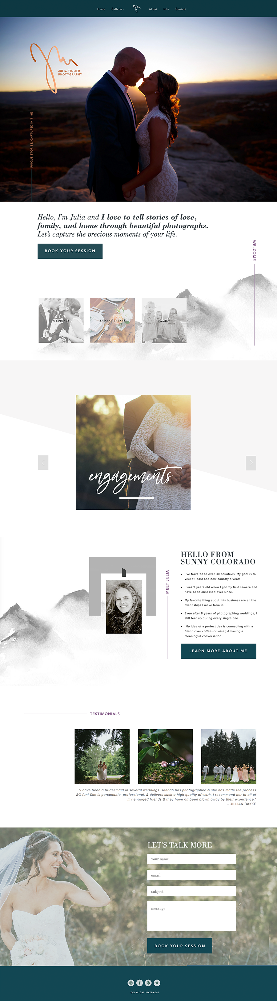 JULIA TIMMER PHOTOGRAPHY  | squarespace |  live»
