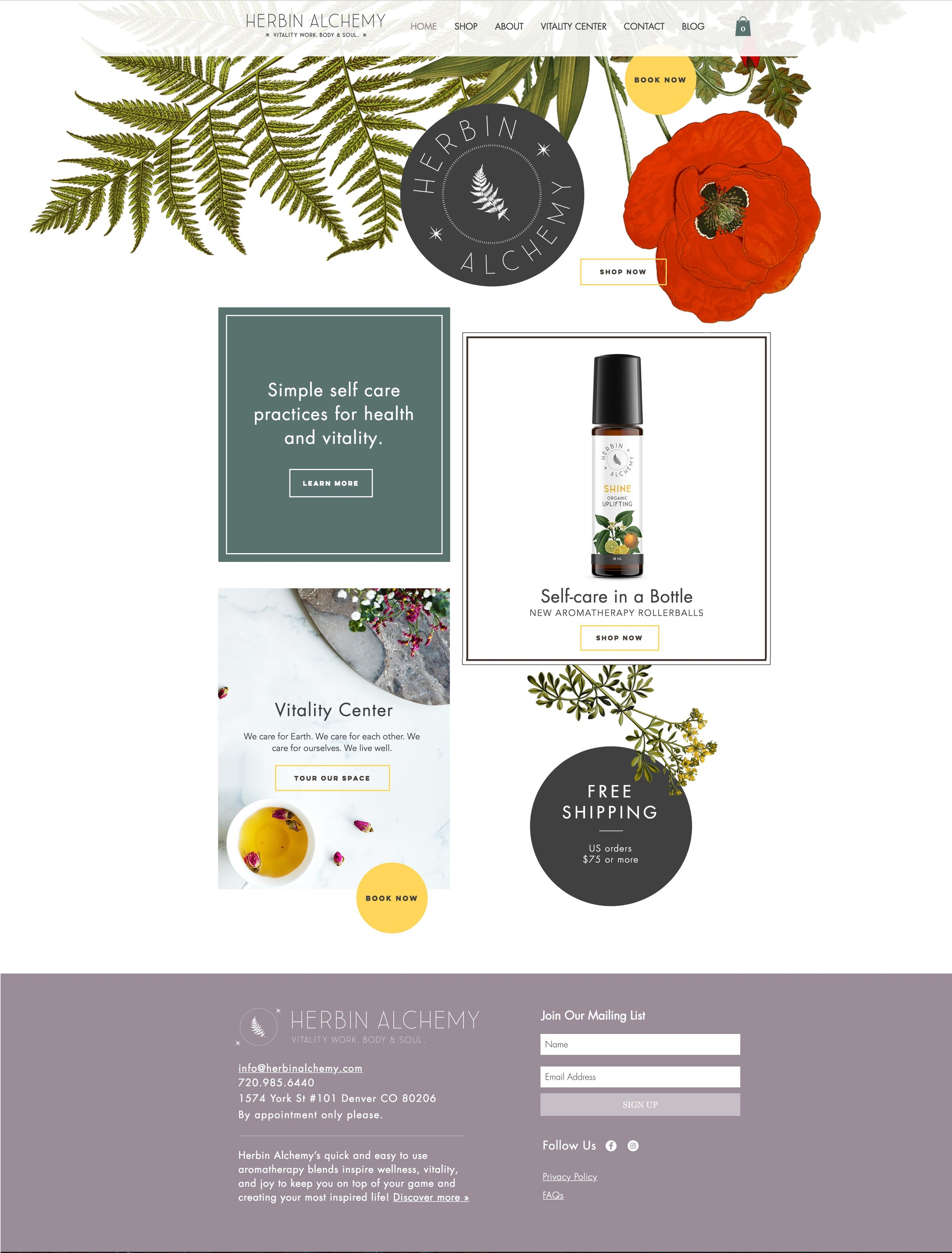 HERBIN ALCHEMY  | wix |  see the site live »