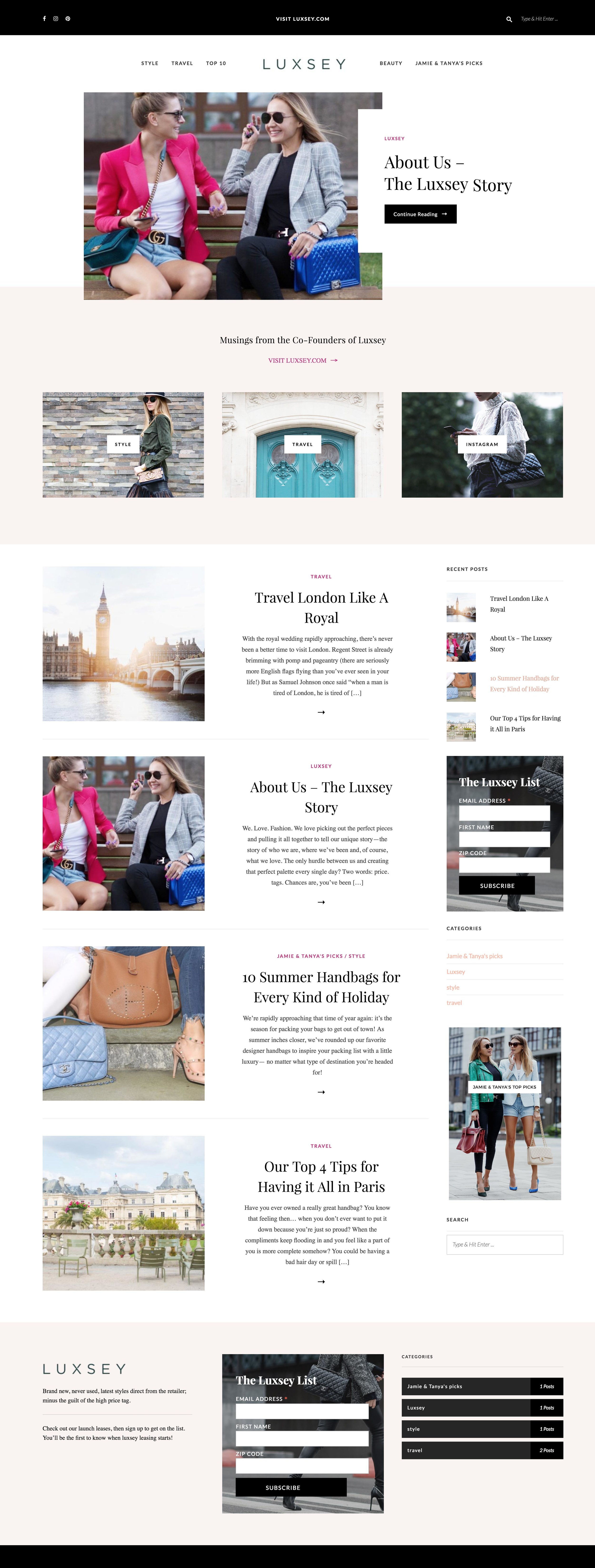 LUXSEY | wordpress |  see the site live »