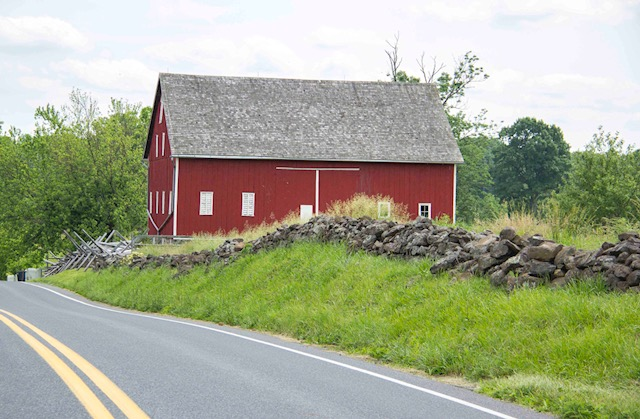 This stone wall along Taneytown Road at the Frey Farm is among three that will be rebuilt.