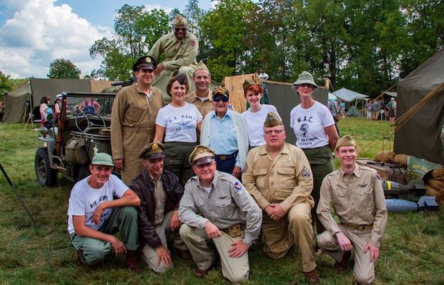 Living history volunteers at the Eisenhower Site 2017.jpg