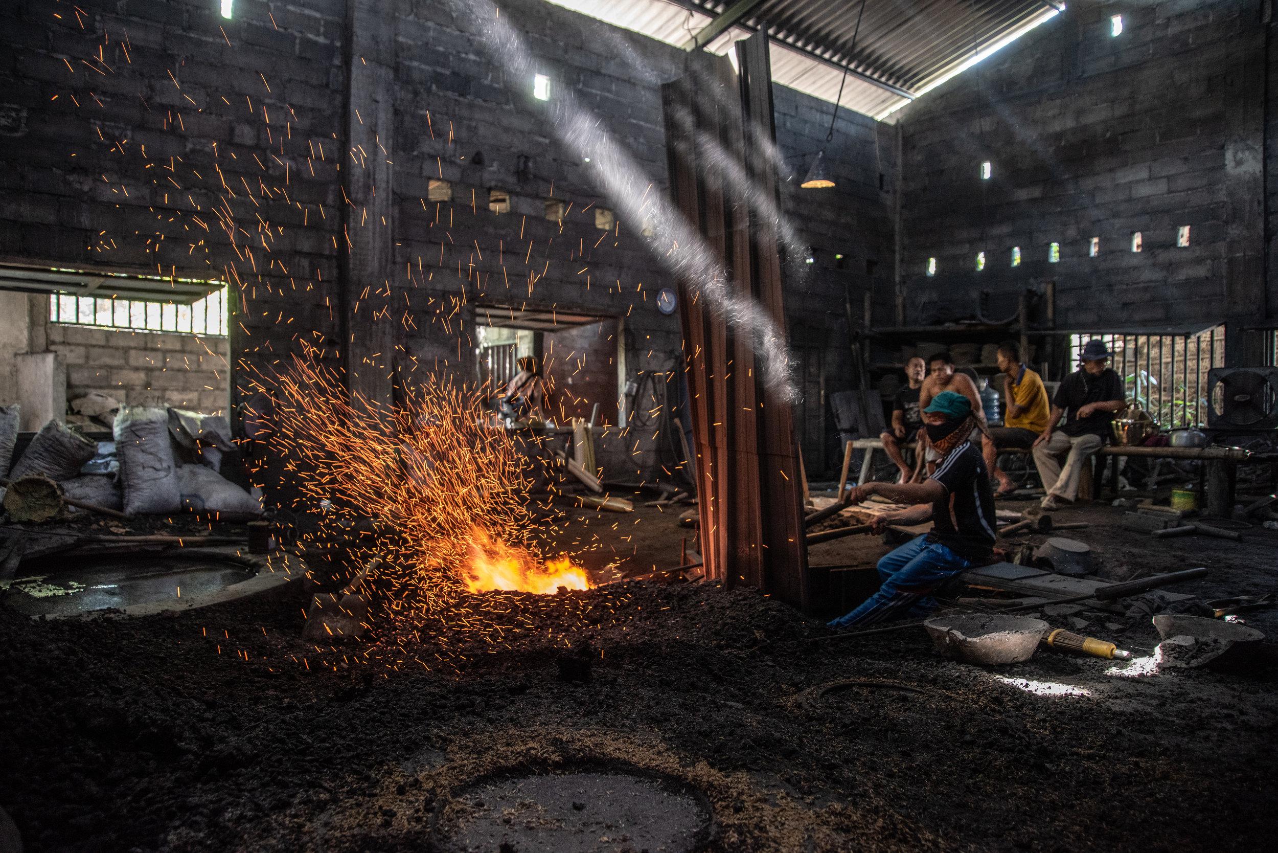 Gamelan makers in Yogyakarta