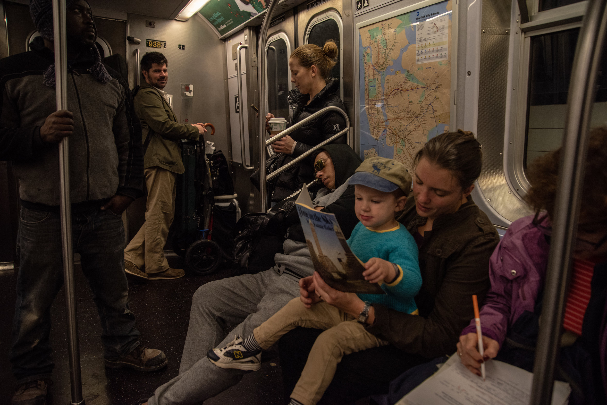 Up before the sun, the trio commute from deep within Brooklyn to Grand Central to busk for a couple hours.