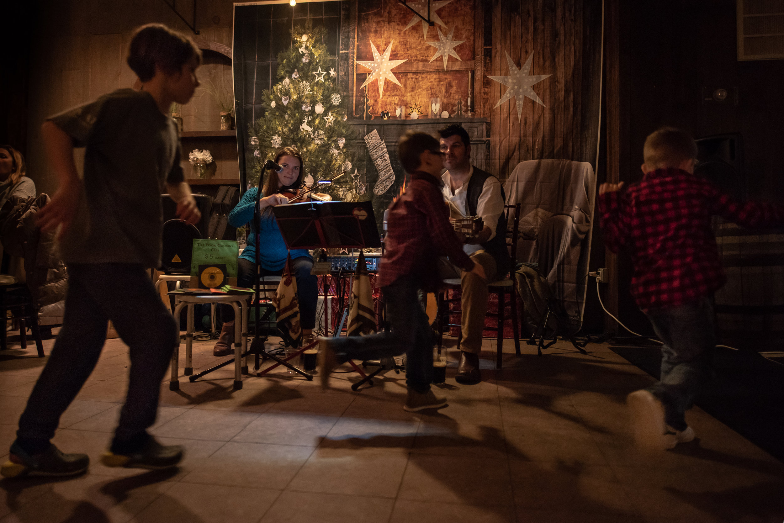 The Poor Cousins round out the holiday season with a performance at an Irish themed holiday dinner in Far Rockaway, New York.
