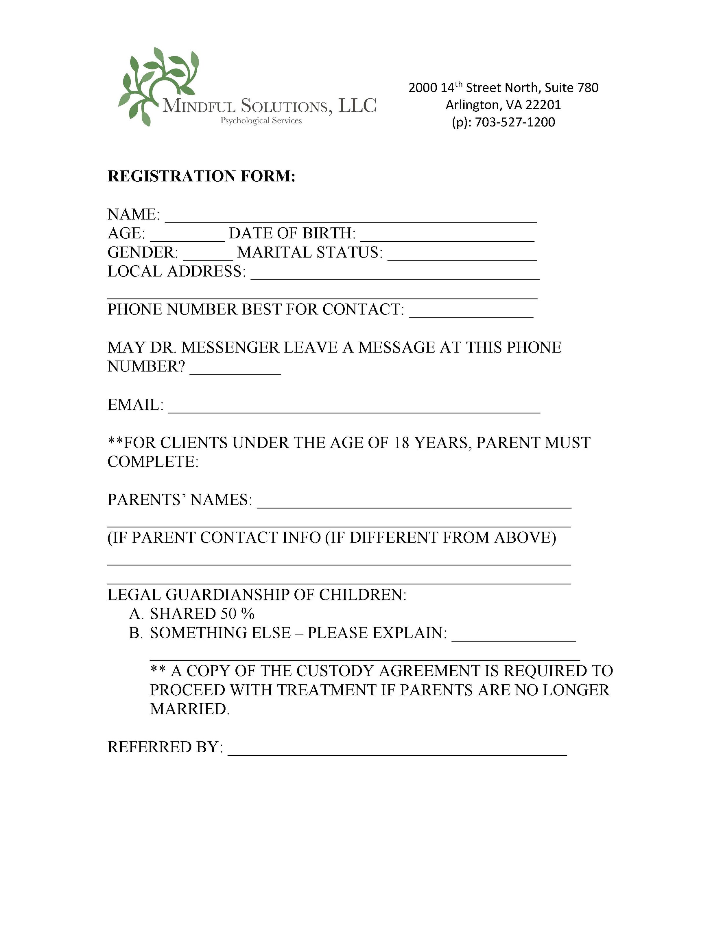 Registration Form -