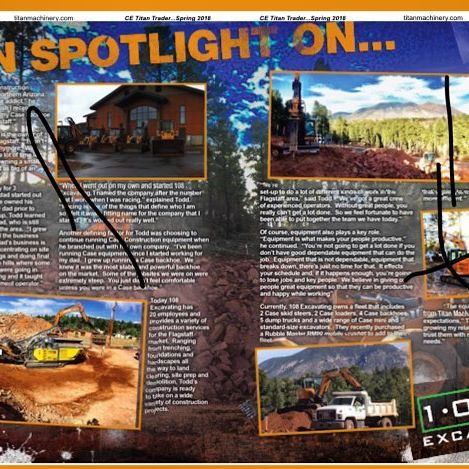 108 Excavating's feature in Titan Magazine