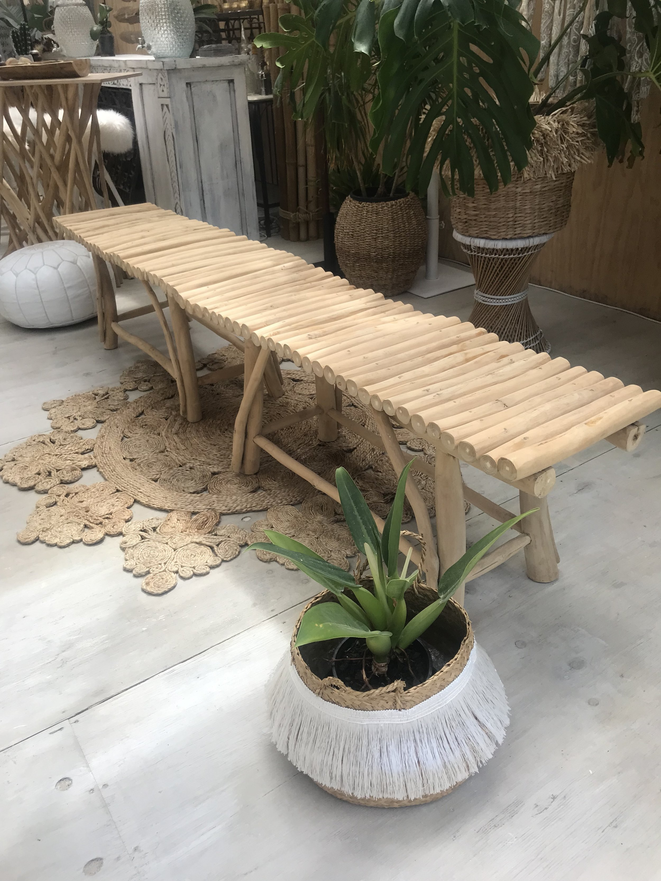 Extra long Driftwood bench seat