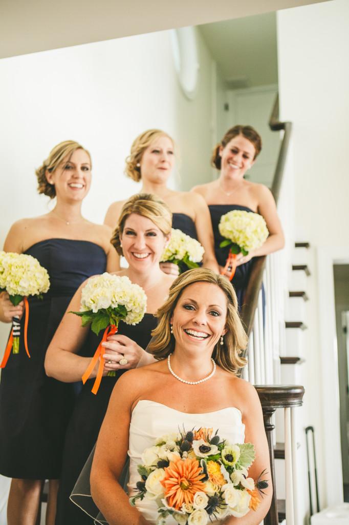 Avalon Wedding Florist - A Garden Party Florist - Avalon Yacht Club - Diamond Street Photography - beach wedding - orange wedding flowers - blue wedding flowers - orange blue and white  wedding - nautical wedding