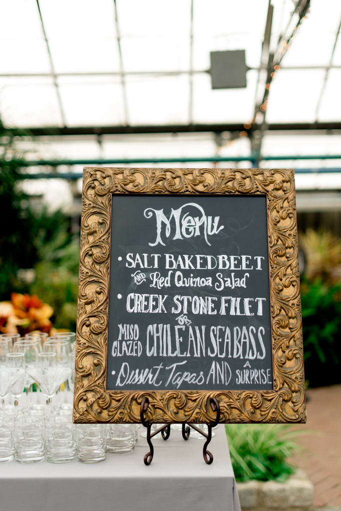 Philadelphia Wedding Florist - A Garden Party Florist - M2 Photography - Horticulture Center - succulents - roses - peonies - chalkboard art - custom signage