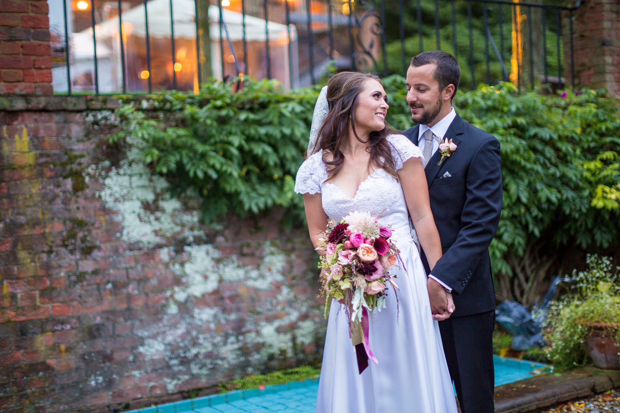 Me with my now-husband, the portal to my relationship with Mary and A Garden Party.  What a great perk!