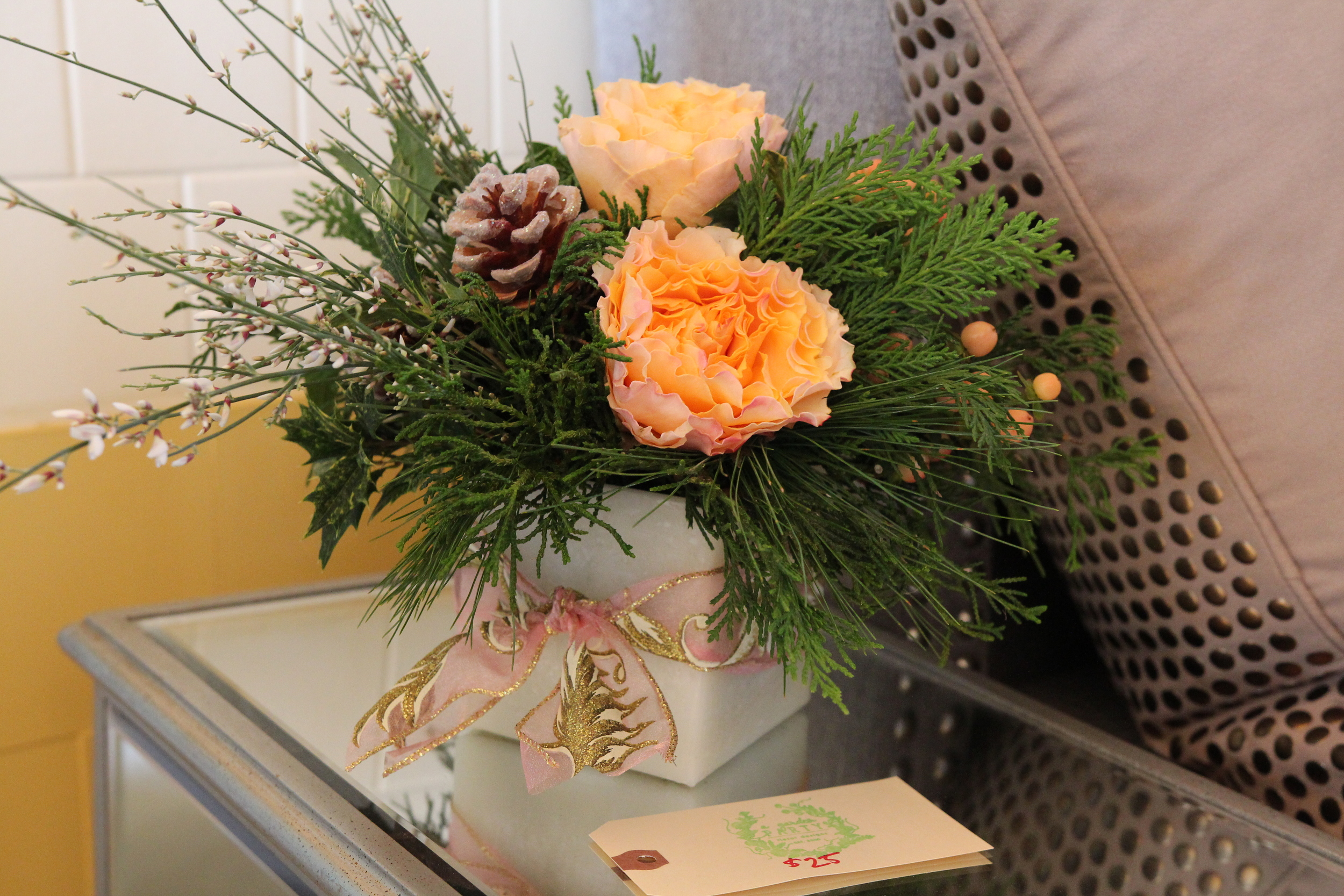 A Garden Party, A Milkhouse Party, Holiday Open House, Christmas Centerpiece Workshop, Floral Design Workshop
