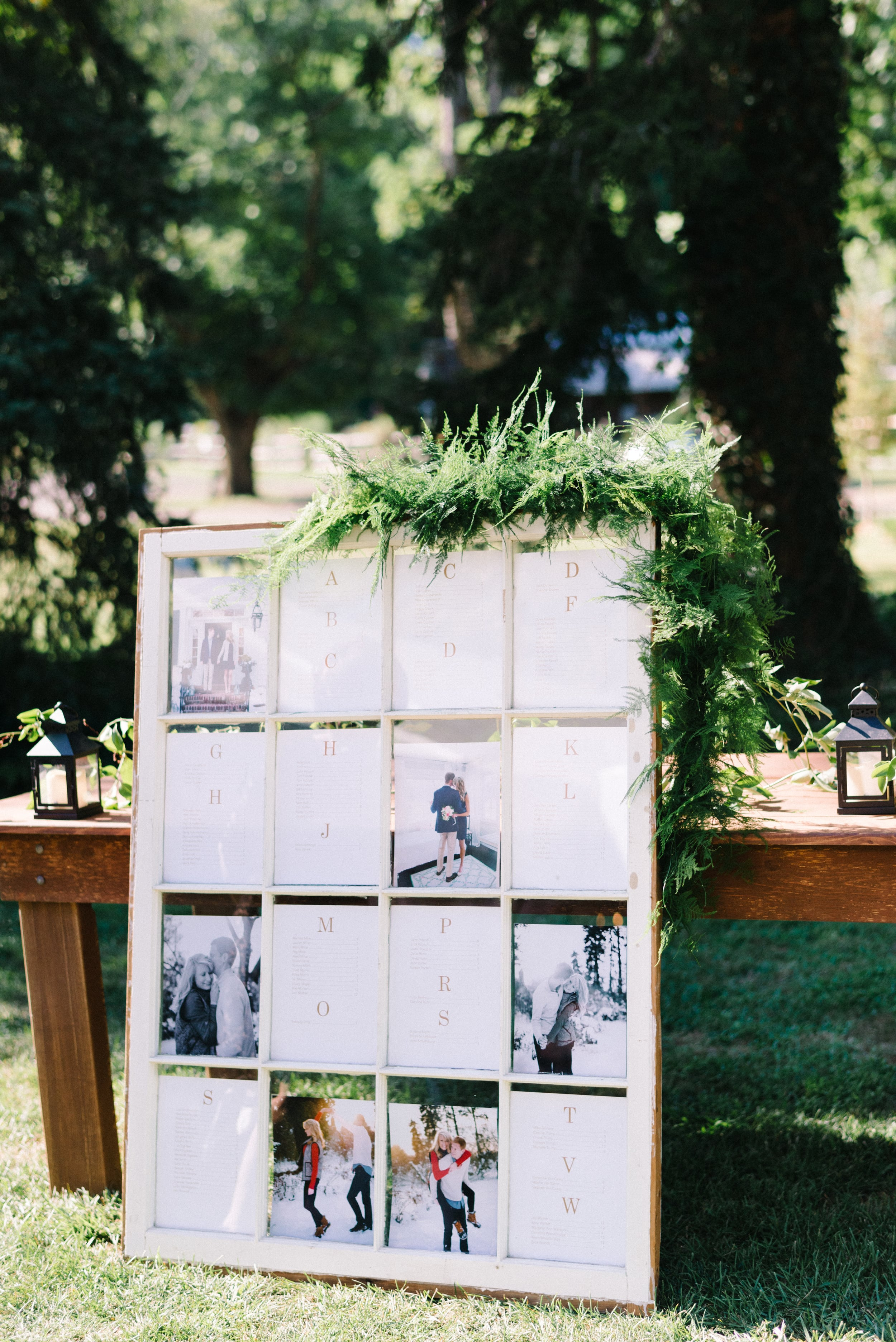 A Garden Party Florist, Inn at Fernbrook Farms, Michelle Lange Photography, Blush, Seating Chart, Window Pane