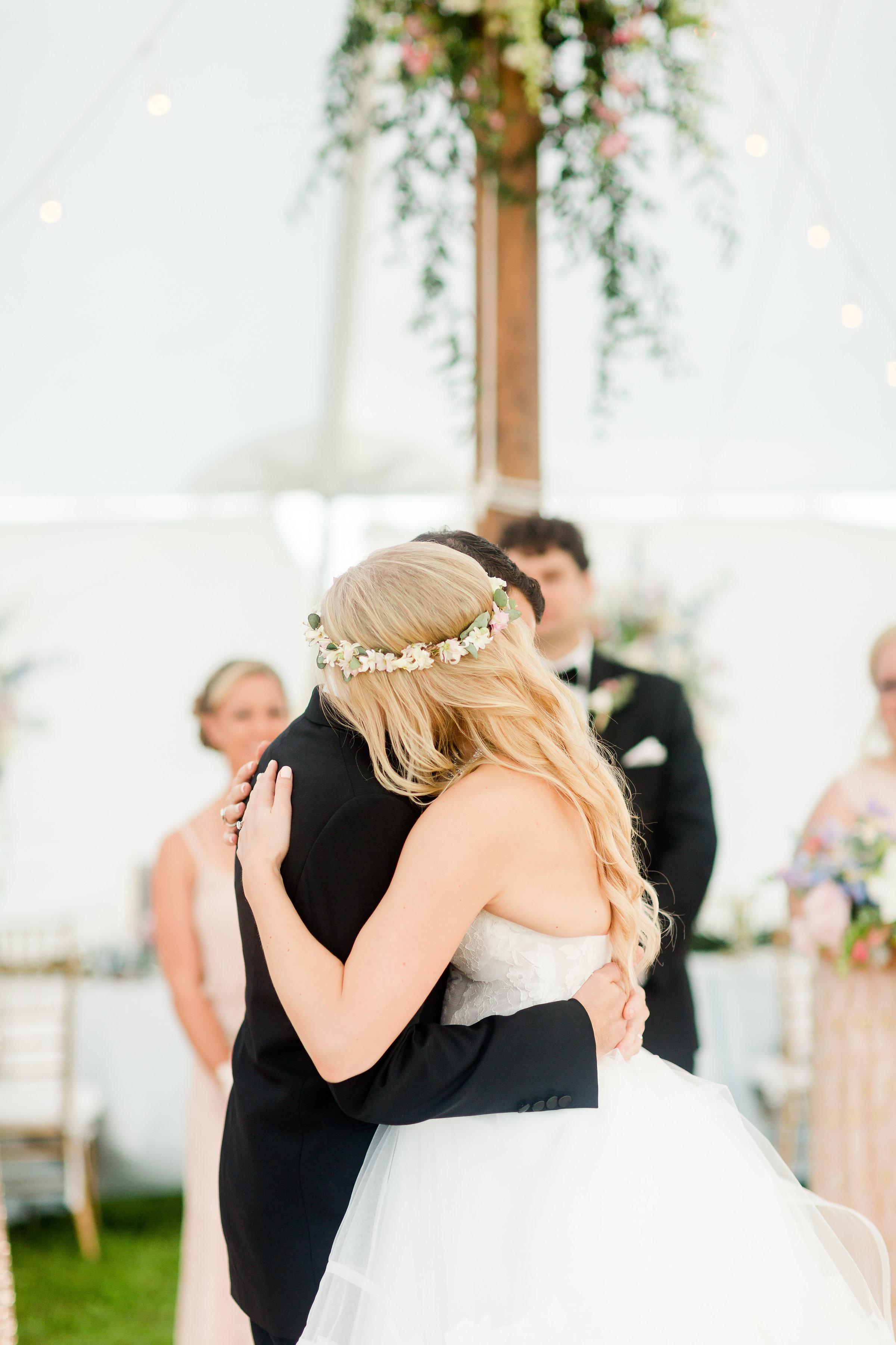 NJ Wedding, Tent Wedding, Flower Crown
