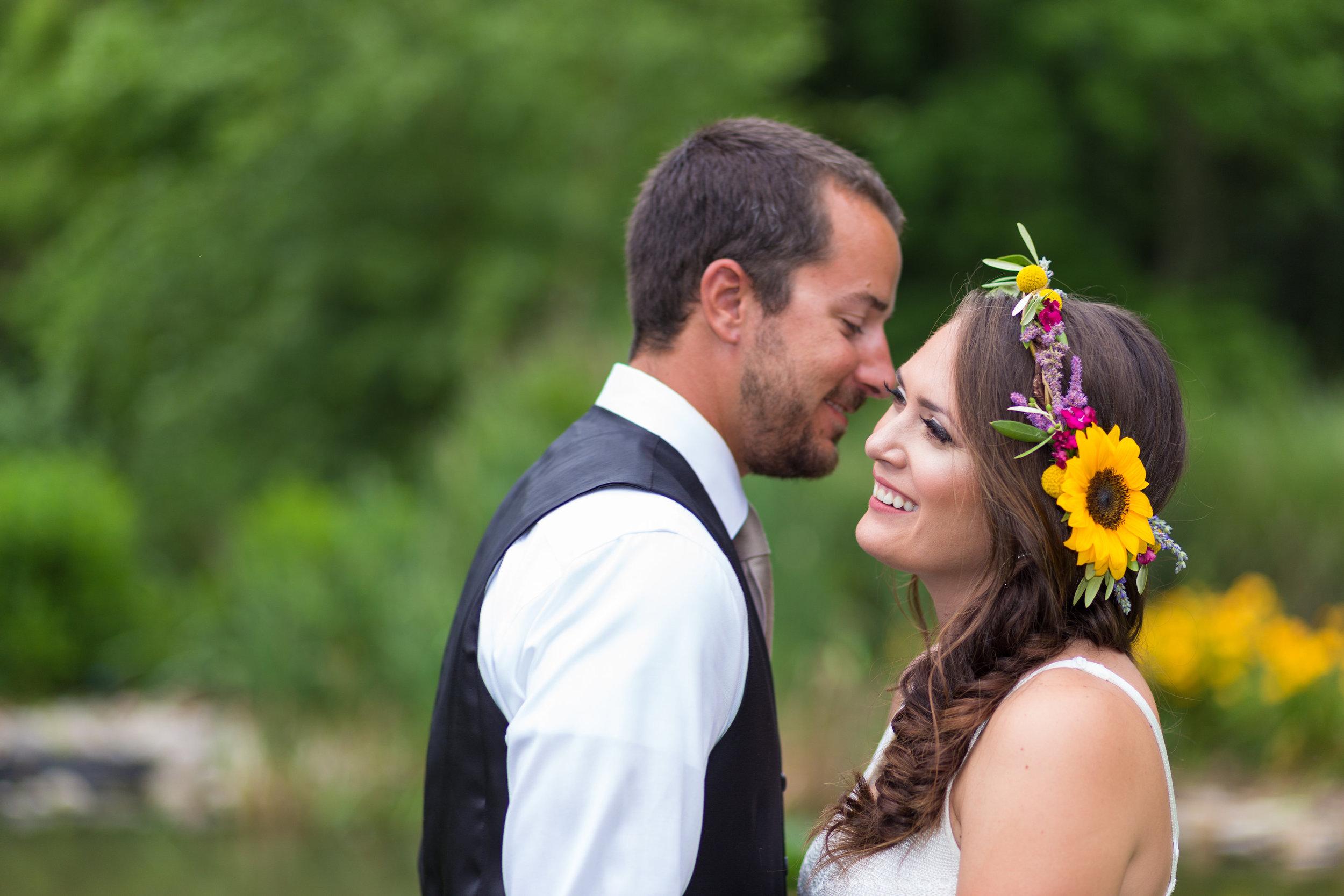 NJ Wedding, Bride, Flower Crown, Sunflower Wedding, Boho, Love Story Studios