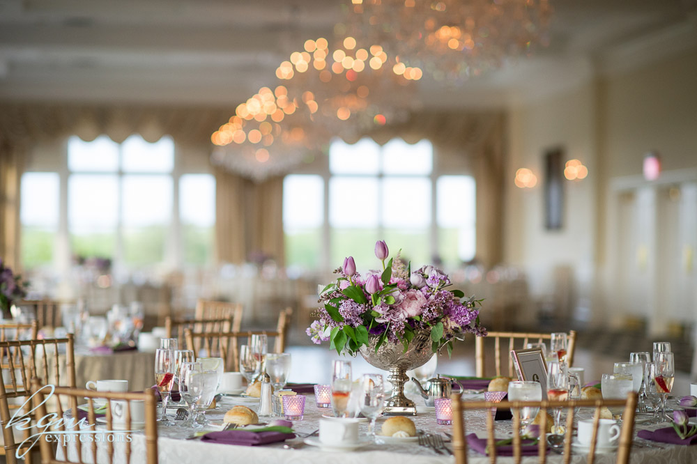 NJ Wedding, Trump National Golf Course, Centerpiece, Napkin Accent, Lavender Wedding, Tulips, Florist, Flowers, A Garden Party