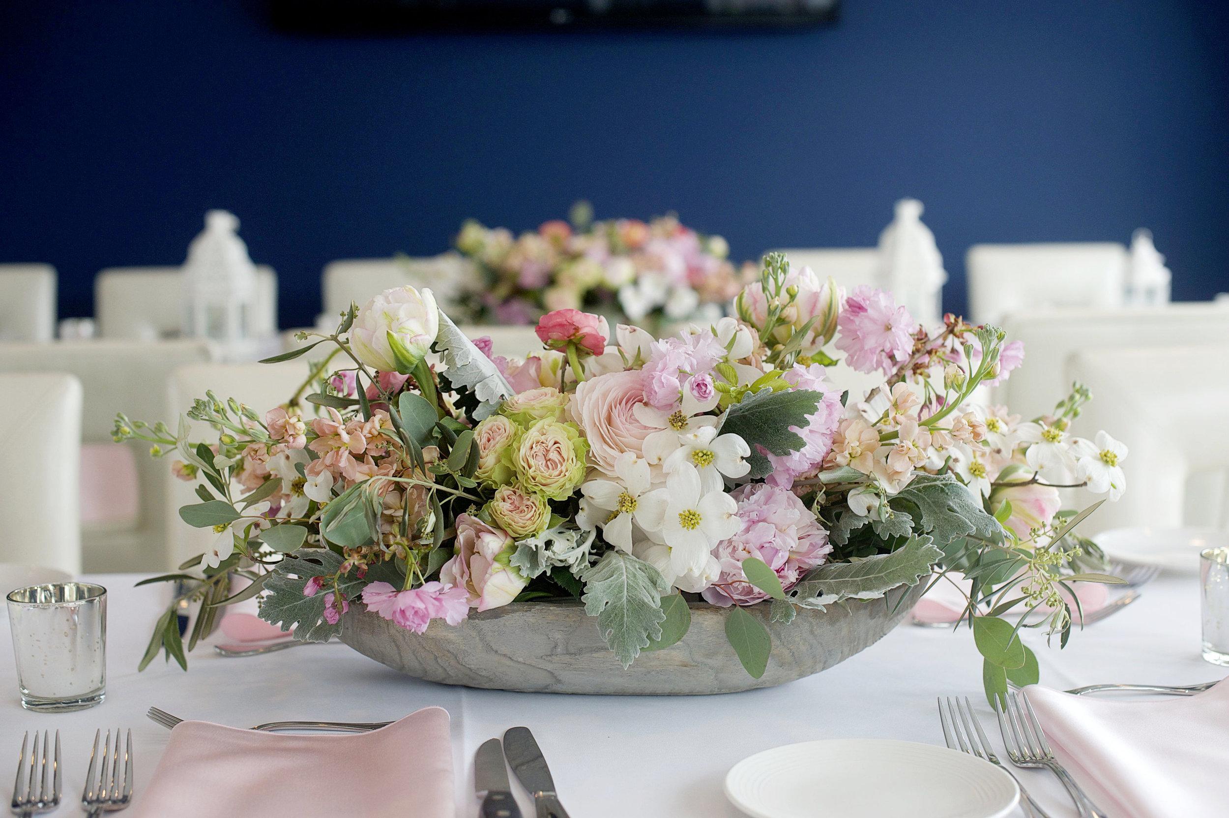 NJ Wedding, Beach Wedding, Avalon Bride, Destination Wedding, Spring Flowers, Blush Flowers, Centerpiece, Table Decor, A Garden Party
