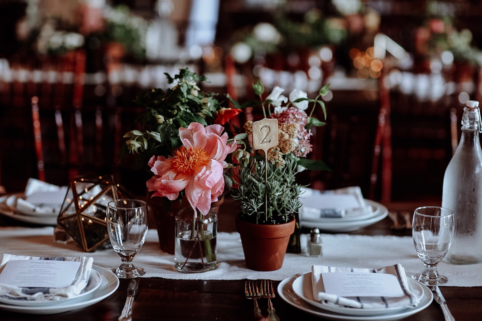 clustered centerpiece look at Rodale Institute