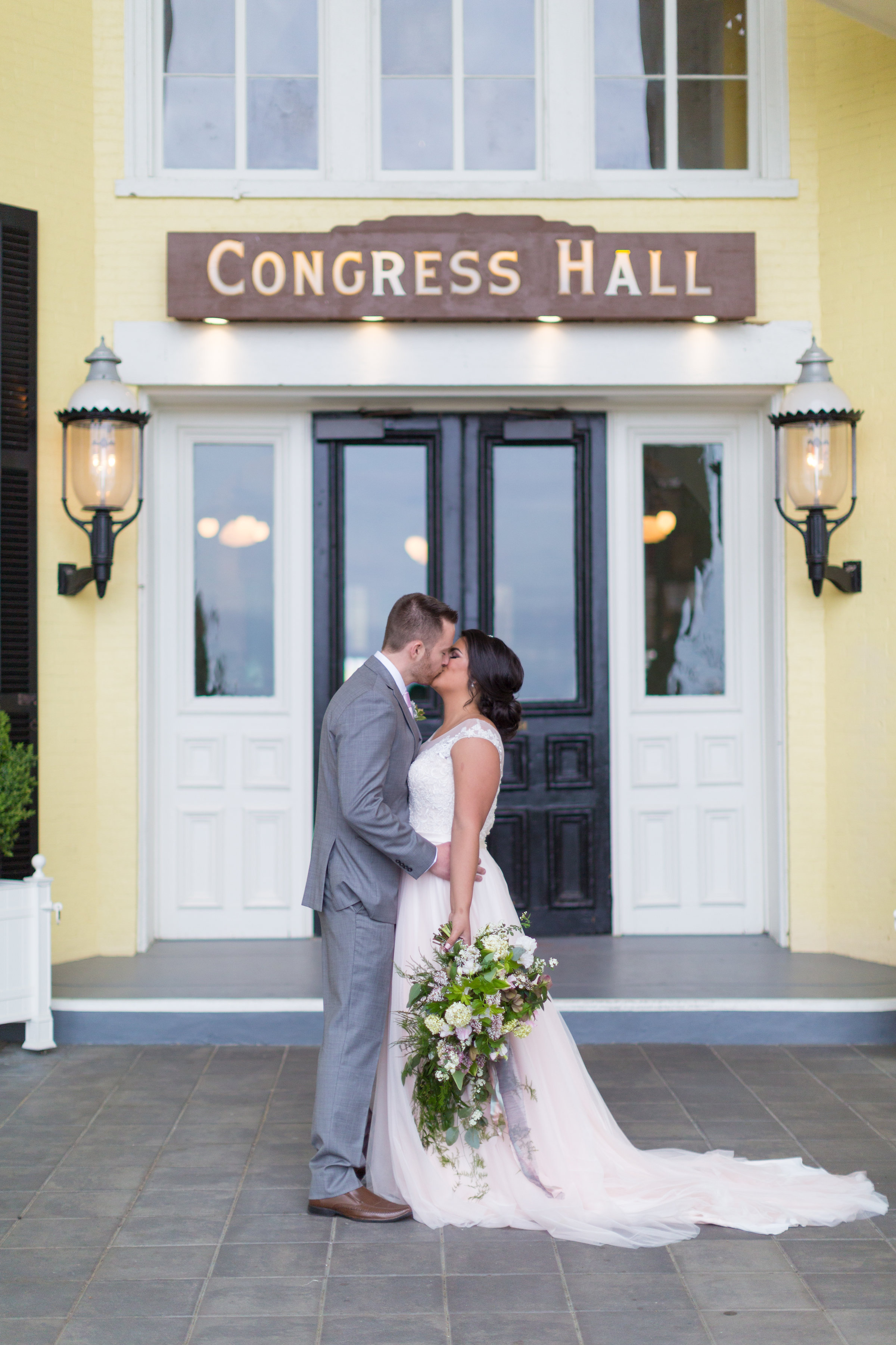 bride and groom portrait at Congress Hall